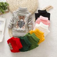 Toddler Kids Boy Girl Tops Clothes Infant Baby Boy Girl Winter Cartoon Sweater