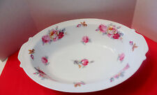"""Sango Pink Yellow Roses Blue Green Leaves SAN 5 Oval Serving Bowl 11"""""""