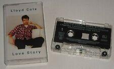 LLOYD COLE LOVE STORY 1995 FONTANA Chrome CASSETTE - tested w/lyric insert