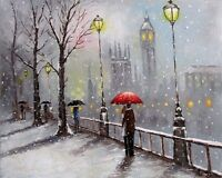 100%Hand-painted Art Oil Painting Landscape London's countryside 16*20inch