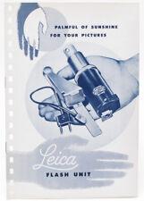 Original Leitz Brochure for Leica CEYOO Flash Unit - 1954