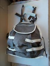 Lululemon duffel gym bag, gym or overnighter, thick brown nylon, cream leather