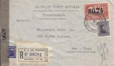 Uruguay to New York, 1945, Registered, See Remark (C1342)