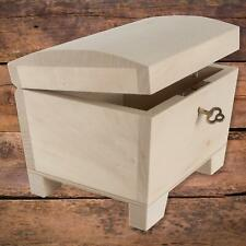 Wooden Storage Box with Key Lock Curved Lid | 15 x 11 x 9 cm | Decorative Chest