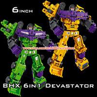 BHX Transformers 6in1 Devastator GT Mini Engineering Vehicle Robot Action Figure
