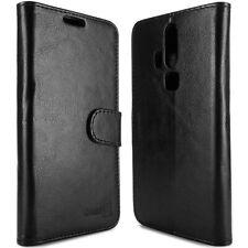 for ZTE Axon Pro Wallet Case - Black Folio Faux Leather Pouch LCD