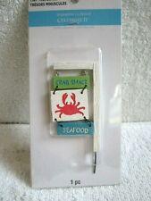 Celebrate It Tiny Treasures Shoreline Wood Crab Shack Seafood Sign Miniature - N