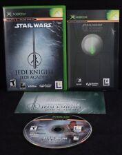 STAR WARS JEDI KNIGHT JEDI ACADEMY XBOX COMPLETE Tested Working