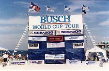 Rare Vintage 30'x8' Busch World Cup Tour Banner; Ijsba Super Jet Ski Pwc racing