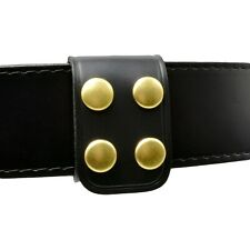 Perfect Fit Double Wide Belt Keeper Brass Snaps Plain Genuine Leather Usa
