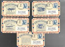 US FDC  FIRST DAY COVER # C48 AIR MAIL 1954   POSTCARDS SET OF 5 PENT ART