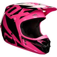 Fox V1 Carreras Motocross Mx Casco - Rosa Enduro Moto MTB Bmx