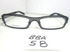 New DERAPAGE Honey Comb 321 Eyeglass Frame Black Unisex (BBA-58)