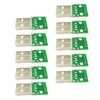 10pcs USB 2.0 Male Head Socket To DIP 2.54mm Pin 4P Board Module Arduino