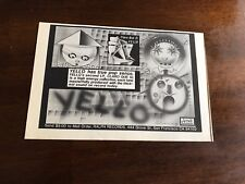 """1981 VINTAGE 8""""X5.25"""" PROMO PRINT Ad FOR YELLOW """"CLARO QUE SI"""" ON RALPH RECORDS"""
