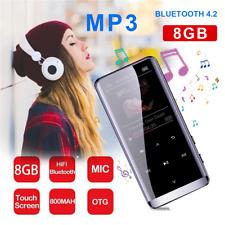 MP3 Player Bluetooth 8GB mit FM Radio Touchscreen Voice Recorder HiFi für Sport