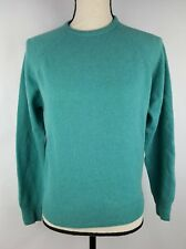 PITLOCHRY Sweater Women's Small Green Lambswool L/S Scotland Crew Neck Raglan