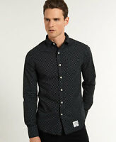 New Mens Superdry Laundered Cut Collar Shirt Mini Sd Optic Mix