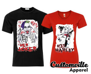 🔥 Her Joker His Harley Couple Matching T-shirts Cute Quinn His Hers squad shirt