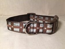 "Chewbacca Star Wars Inspired Ribbon Dog Collar 1""Adjustable Dog collar R2D2 BB8"