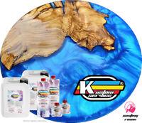 Resina Epossidica Bicomponente Super Trasparente KIT A+B con Colorante A scelta