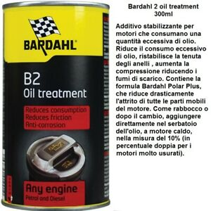 Trattamento additivo motore  BARDAHL 2 oil treatment  300ml per consumo olio