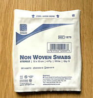 10 Sterile Non Woven Medical Gauze Swabs 10 x 10cm Premier First Aid Hospital