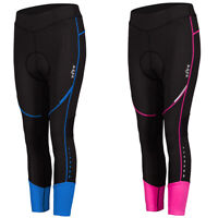 Women Workout Sport Cycling Pants 3/4 Length Bike Cycle Padded Tights Trousers