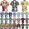 Mens Hawaiian Shirt Cruise Tropical Luau Palm Beach Aloha Party Holiday Tops Tee