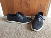 Timberland Mens Black Leather And Nubuck Shoes Trainers Size 9