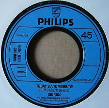 "7"" Giorgio Moroder Today's A Tomorrow Pauline 1972 Electronic Disco"