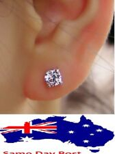 Stud Earring New Silver Plated Crown CZ Simulated Zirconium Crystal Women Beauty