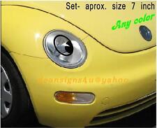 Eyeball Eye any car headlight set add eyelashes lip bumper make face free BONUS