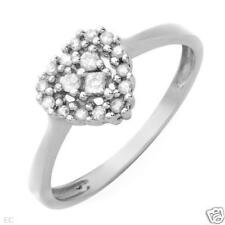 Diamond Heart Engagement/Promise Ring-0.17ctw10kwg