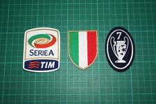 ITALIAN LEAGUE SCUDETTO SERIE A and 7 TIMES TROPHY BADGES 2011-2012
