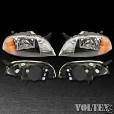 1998-2001 Chevrolet Metro Suzuki Swift Headlight Lamp Clear lens Halogen Pair