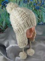 PRINTED INSTRUCTIONS-BABY BIG BOBBLE CABLE TRAPPER HAT KNITTING PATTERN