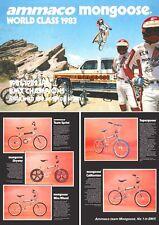 Vecchia Scuola Bmx Mongoose catalogo brochure volantino RIVISTA Retrò Vintage Anni 1980