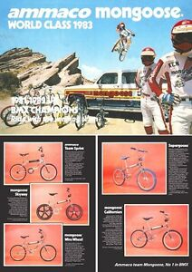 Old School BMX Mongoose Supergoose Catalogue Brochure Retro/Vintage 1980's
