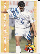 N°143 J.C THOMAS MARSEILLE OM CARTE PANINI FOOTBALL FRANCE CARDS 1994