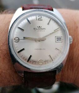 Montre Eloga (FORTIS) . Date. Vintage watch