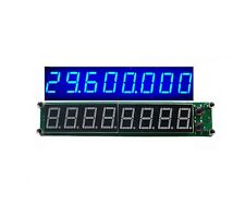 RF Signal Frequency Counter 0.1-60MHz 20MHz ~ 2.4GHz Cymometer Tester Blue 8 LED