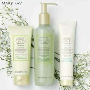 MARY KAY 3 PIECE SET Full Sized WHITE TEA AND CITRUS Satin Hands Pampering Set