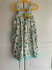 New Room Seven Dress - Oilily Group - Daffodil Floral, Blue, 128 Age 8, RRP £74