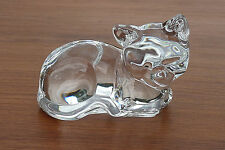 """Princess House  """"PETS"""" Collection,  Lead Crystal Cat Figurine Paperweight ~ EUC"""