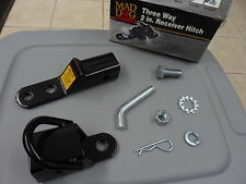 "NOS Mad Dog Gear Three Way 2"" Ball Mount Receiver Hitch A719BLK-00-000"