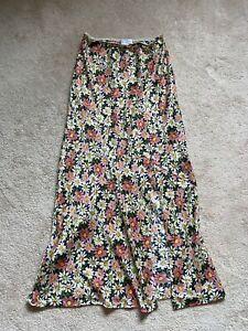 Topshop Size 6 Floral Slip Skirt