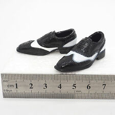XE20-05 1/6 Scale HOT Male Shoes Black (hollow) & White TOYS