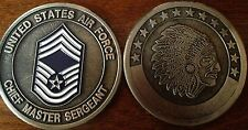 US AIR FORCE CHIEF MASTER SERGEANT RANK CHALLENGE COIN MILITARY COINS