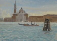 "ORIGINAL MICHAEL RICHARDSON ""San Giorgio from the Dogana"" Venice OIL PAINTING"